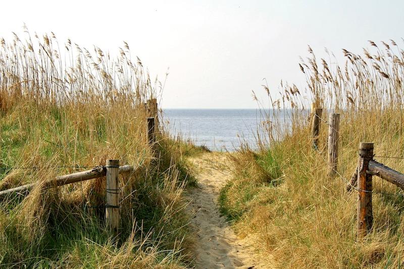 Strand zum Wandern in Cuxhaven